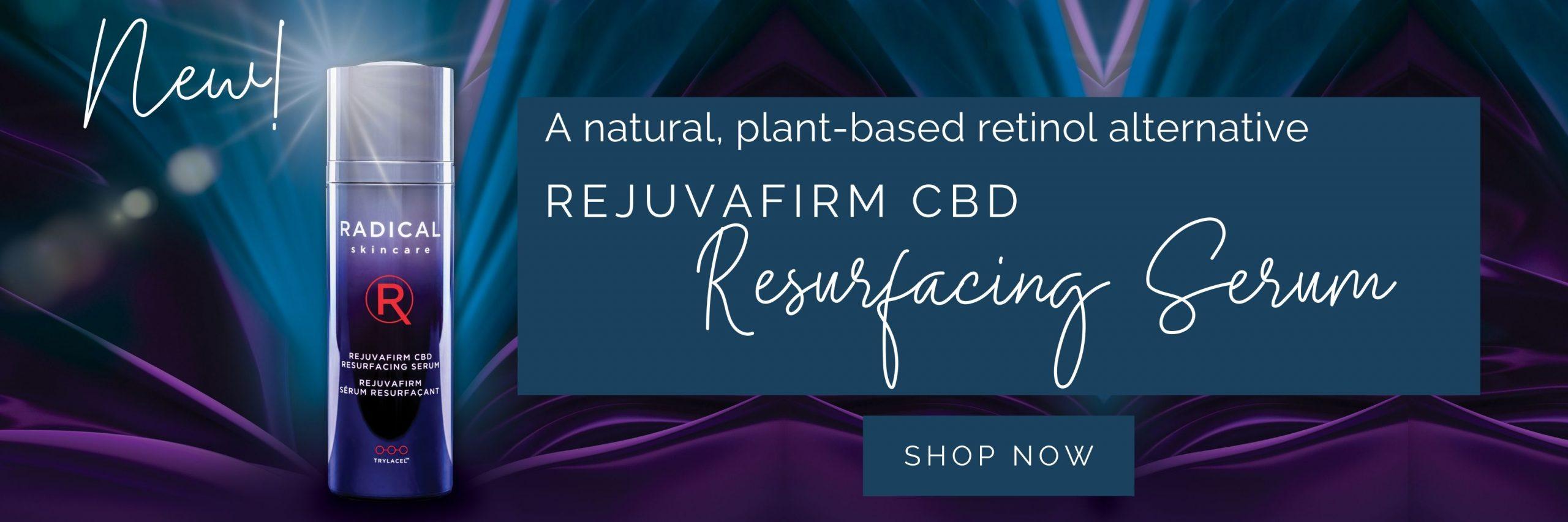 rejuvafirm cbd resurfacing serum banner